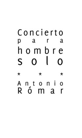 Cubierta de la plaquette «Concierto para hombre solo». Editorial Nanoediciones y Palabras del Cruciforme, 2010.